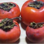 でっかい柿ができました